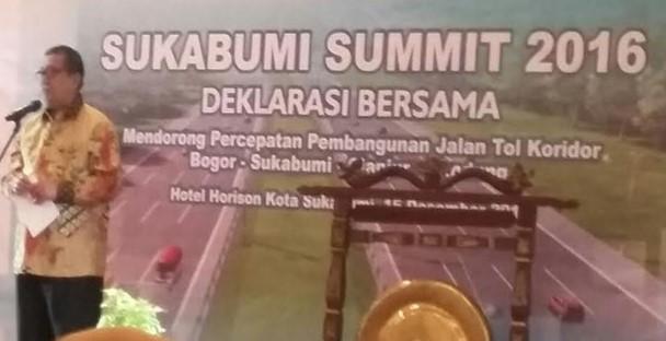 SUKABUMI SUMMIT 2016 : DORONG PERCEPATAN TOL BOGOR – BANDUNG